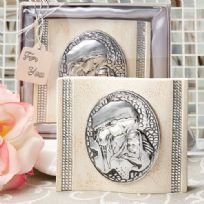 Madonna And Child Plaque Ivory & Silver